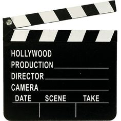 Hollywood Directors Clapboard