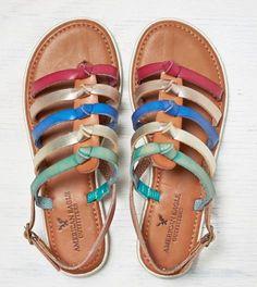 Tan AEO Bright Strappy Sandal