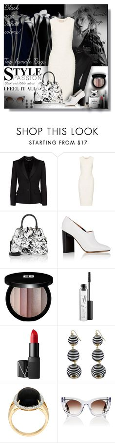 """""""Top handle Bags - Contest!!!"""" by sarahguo ❤ liked on Polyvore featuring Loewe, Alexander McQueen, Michael Kors, Maison Margiela, Edward Bess, MAC Cosmetics, Chanel, NARS Cosmetics and Thierry Lasry"""