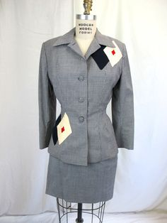 1940s Lilli Ann Suit by tovasvintage on Etsy Women's vintage fashion history historical clothing outfit for fall designer rockabilly