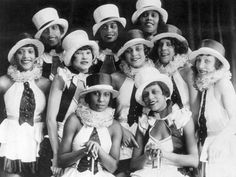 Chorus girls of the musical revue Chocolate Kiddies at the Admiralspalast in Berlin, Germany, 1925