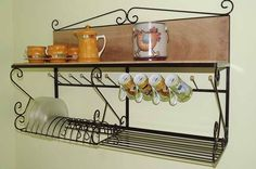 Steel hardware Even though historic inside principle, a pergola has been going through somewhat of Kitchen Shelves, Kitchen Decor, Art Fer, Estilo Colonial, Steel Art, Iron Furniture, Metal Crafts, Shelving, Sweet Home