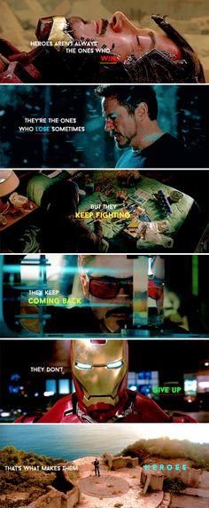tony stark is a hero. #marvel
