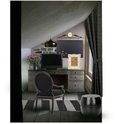 """attic office"" by whitteewhit on Polyvore"