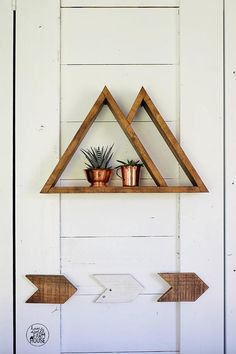Wood Mountain Shelf  Modern Gallery Wall Decor  Modern