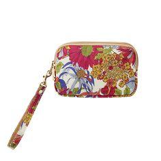 鞄にすっぽりコンパクトサイズ。ダブルポケットで収納力抜群なポーチ【ピンク】