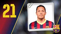 Imagen oficial de Adriano con la camiseta del FC Barcelona