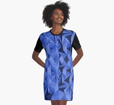 Blue fractals pattern, geometric theme by cool-shirts   Also Available as T-Shirts & Hoodies, Men's Apparels, Women's Apparels, Stickers, iPhone Cases, Samsung Galaxy Cases, Posters, Home Decors, Tote Bags, Pouches, Prints, Cards, Mini Skirts, Scarves, iPad Cases, Laptop Skins, Drawstring Bags, Laptop Sleeves, and Stationeries