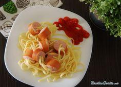 Aprende a preparar espaguetis con salchichas para niños con esta rica y fácil receta.  Si estas buscando algo divertido para el almuerzo o la comida de tus hijos est...