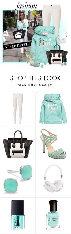 """""""Leigh-Anne Pinnock"""" by dgia ❤ liked on Polyvore featuring J Brand, CÉLINE, Kate Spade, Silver Treasures, Frends, NARS Cosmetics and Deborah Lippmann"""
