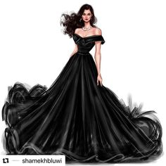 Black is for Queens. Dress Design Drawing, Dress Design Sketches, Fashion Design Sketchbook, Fashion Design Drawings, Dress Drawing, Fashion Sketches, Fashion Drawing Dresses, Fashion Illustration Dresses, Fashion Dresses
