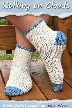 Crochet Socks Pattern – Great for first time sock crocheters! Crochet Socks Pattern – Great for first time sock crocheters!,Moogly's Finds Treat your feet to these super soft, cushy, socks! This crochet socks. Easy Crochet Socks, Crochet Sock Pattern Free, Crochet Shoes, Crochet Slippers, Knit Or Crochet, Crochet Clothes, Crochet Stitches, Free Crochet, Free Pattern