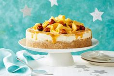 Curtis Stone's Oh-So-Delicious mango caramel ice-cream cake main image Make Ahead Desserts, Frozen Desserts, Summer Desserts, Christmas Desserts, Delicious Desserts, Christmas Treats, Christmas Lunch, Xmas Food, Christmas Cooking