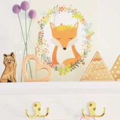 Create a stylish and fun nursery or kids rooms with creative wall art for kids. Art Wall Kids, Nursery Wall Art, Art For Kids, Pop Design, Print Design, Fox Print, Kids Prints, Kids Bedroom, Woodland