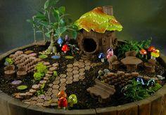 Fairy Garden Collection — Plum Scrumptious Inexpensive Fairy Garden accessories, love the shroomyz!  $46 starter kit