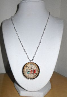 Time Flies/Bottle cap jewelry dragonfly by CreationsbyMaryEllen, $8.99