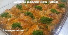 3 Dakikada Şerbetli Bohçacı Bacı Tatlısı   Renkli Hobi Broccoli, Zucchini, Food And Drink, Meat, Vegetables, Facts, Bakken, Vegetable Recipes, Veggies