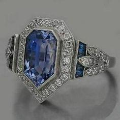 Art Deco Diamond, Art Deco Ring, Art Deco Jewelry, Fine Jewelry, Jewelry Design, Antique Jewelry, Vintage Jewelry, Antique Art, Antique Silver