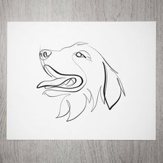 The love is real guys Thanks for all of the custom one line orders so far! I'm having so much fun creating them - even the more challenging ones like the long-haired dog breeds. Dog Line Drawing, Dog Line Art, Single Line Drawing, Tattoo Perro, One Line Animals, Golden Retriever Art, Art Minimaliste, Illustration Art, Illustrations