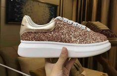 e923dbb0ed2 Alexander McQueen Inspired Glitter Oversized Platform Sneaker