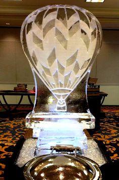 Hot air balloon ice sculpture