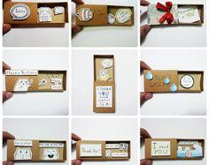 Gemischte Kartendesigns, Grußkarten Liebe! -Matchbox Karte, Geschenk-Box, Message-box