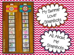 All About Me Snapshots....Savvy Second Grade Fun---Fun for the first week of school
