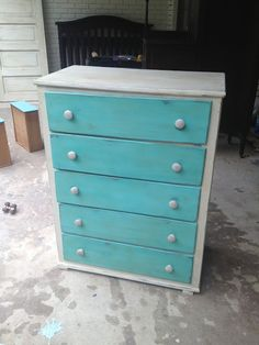 Chest of Drawers Makeover by Diamond In The Rough - Featured on Furniture Flippin'