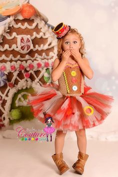 Gingerbread inspired Christmas tutu dress by SofiasCoutureDesigns