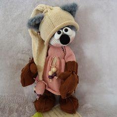 мишки,зайки,котики...добрые игрушки для вас!!!: Вязаные игрушки Amigurumi Toys, Softies, Crochet Toys, Knit Crochet, Doll Toys, Crochet Stitches, Doll Clothes, Dog Cat, Teddy Bear