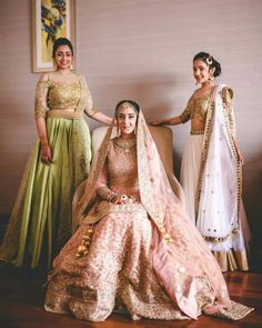 Every Indian Bride has her own designer wedding lehenga dreams. We have picked our favourite stunning bridal lehenga colors that are not red Bridal Looks, Bridal Style, Indian Dresses, Indian Outfits, Sikh Wedding, Wedding Dresses, Wedding Reception, Punjabi Wedding, Wedding Ideas