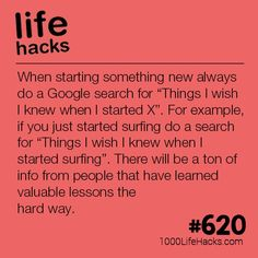 Before Starting Something New - 1000 Life Hacks - Improve your life one hack at a time. 1000 Life Hacks, DIYs, tips, tricks and More. Simple Life Hacks, Useful Life Hacks, Life Hacks Websites, Mind Hack, 1000 Lifehacks, Budget Planer, Thing 1, I Wish I Knew, School Hacks