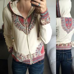 Unique Boho Hoodie Super awesome and unique hoodie. In great condition. Size small. Billabong Sweaters