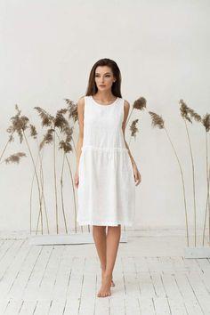 82e0b9da6d 91 Best White linen dresses images in 2019