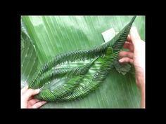 วิธีทำ กระทงใบตอง #๗ (กลีบคอม้า + กลีบเล็บมือนางซ้อน ๓ ชั้น) - YouTube
