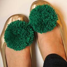 chaussures avec un pompon diy