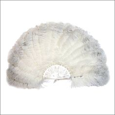 Victorian ostrich feathered fan circa 1870