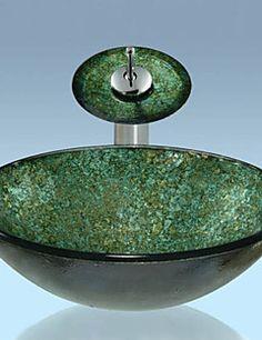 modern waschbecken bunt rund glas aufsatz waschschale mit. Black Bedroom Furniture Sets. Home Design Ideas