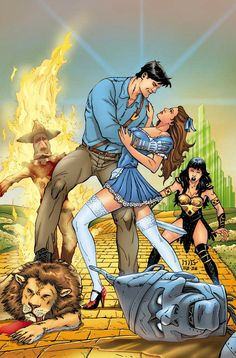 Xena- Army of Darkness cover--cheesy no? Xena- Army of Darkness cover C Horror Movie Characters, Horror Movies, Ash Evil Dead, Old School Pictures, Xena Warrior Princess, Grimm Fairy Tales, Adult Cartoons, Ghost Rider, Comic Book Covers