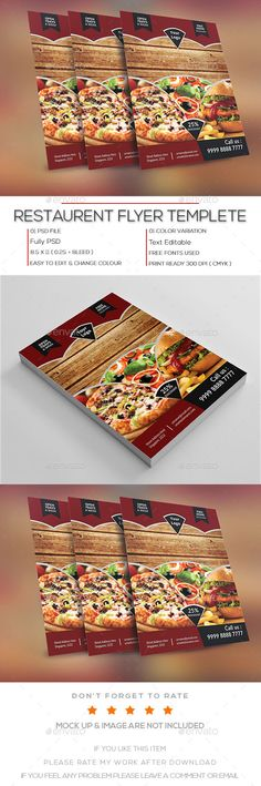 1406 best Restaurant Flyer Design images on Pinterest Flyer design