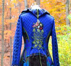 Custom sweater COAT for MaryAnn. Patchwork Fantasy by amberstudios