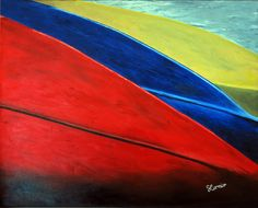 """""""Canoes"""" -   30""""x24"""" Oil on Gallery-Wrapped Canvas"""
