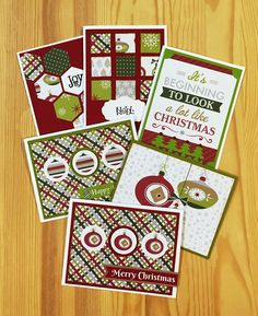 Super easy, super cute Christmas card ideas!  Visit www.creativememories.com/user/susan to find everything you need. Instructions at http://www.organizedandcreativemom.com/2015/12/christmas-joy-cards.html
