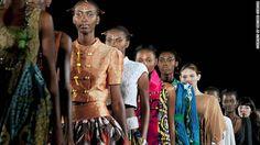 Models wear Nigerian-Italian label Kinabuti on the runway. (Nigeria Fashion week 2012)
