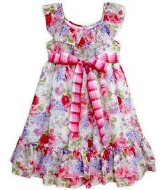 Pippa & Julie Clip-Dot Chiffon Dress - Dillards