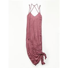 Free People Knotted Tie Up Slip ($98) ❤ liked on Polyvore featuring intimates, shapewear and dresses
