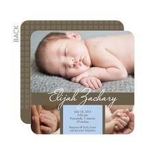 Graceful Cursive: Summer Whisper Birth Announcements