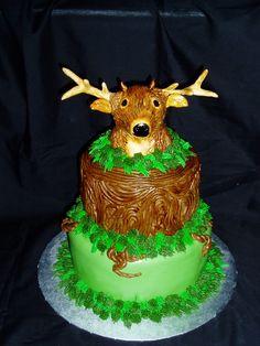 Deer Head/Hunting Cake www.facebook.com/MelissasCakesCookies