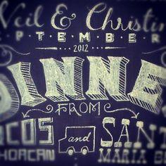 Chalkboard Illustration by Gina Strathman, via Behance