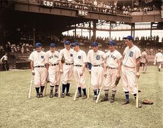 Here's a picture that I colorized (from a B&W) of some American League greats at the 1937 All-Star Game (July 7) at Griffith Stadium - Washington D.C. From left to right: Lou Gehrig, Joe Cronin, Bill Dickey, Joe DiMaggio, Charlie Gehringer, Jimmie Fo Gaming Panda offer you a complete variety of purchasing guide for Computer games digital download. - http://www.gamingpanda.net